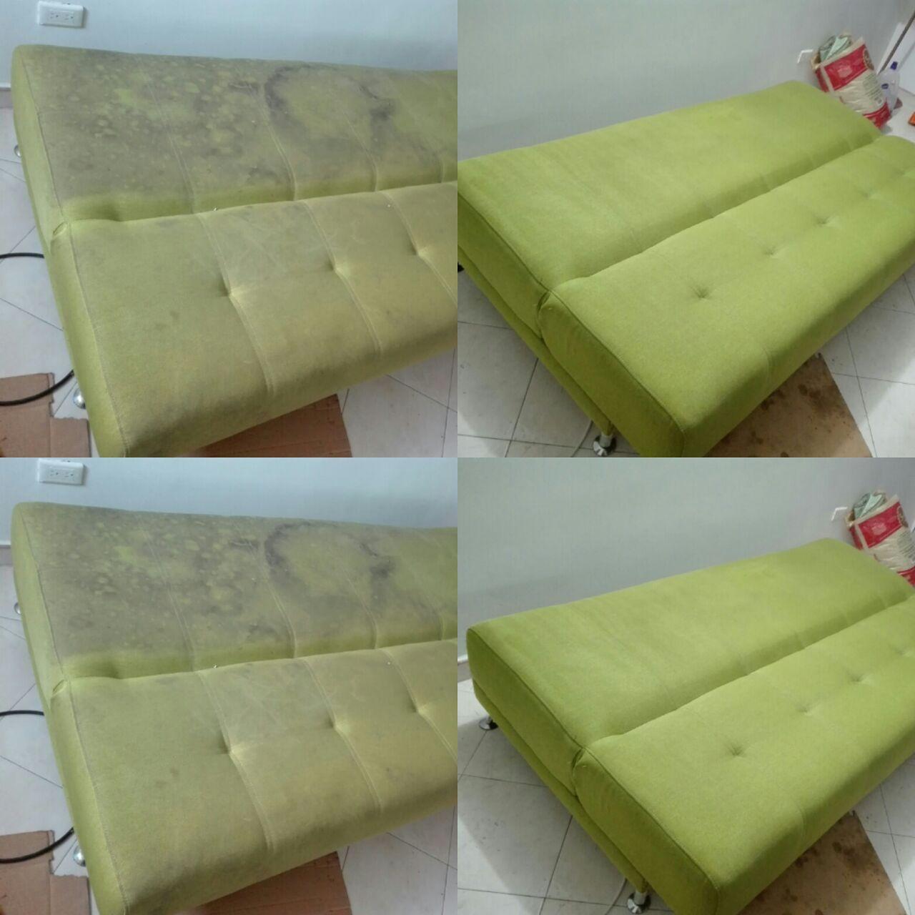 Limpieza de sofas amazing limpieza de sofs y tapiceras - Sofa cama verde ...