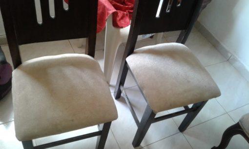 lavado de sillas de comedor en cali